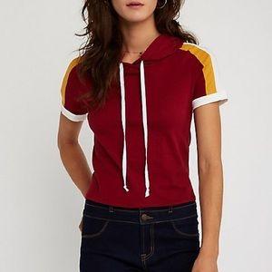 Charlotte Russe sleeve stripe hoodie